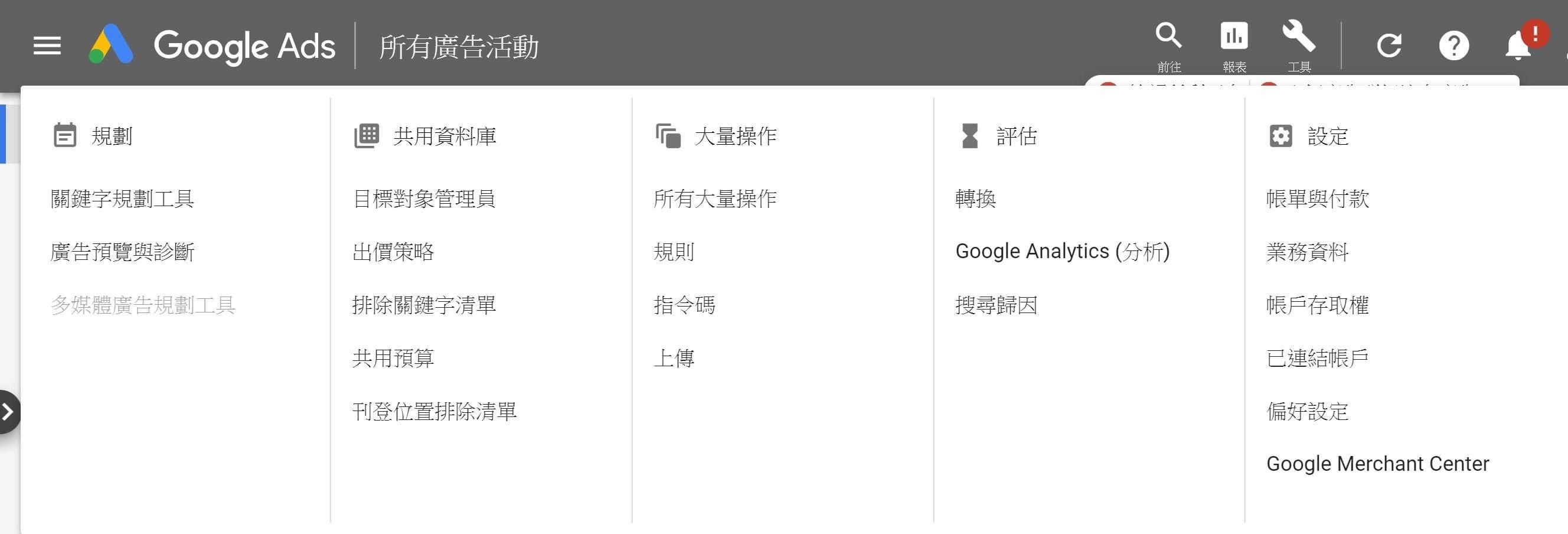 Google Ads工具